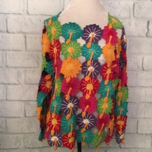 Berek colorful hibiscus sweater